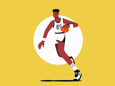 Dribbling dribble illustraion vector basketball