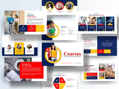 Education Presentation Design ui logo branding motion graphics graphic design 3d animation presentation education presenation school powerpoint education