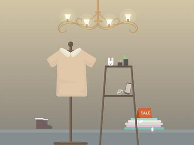 Couture couture plant pendant shoes market icon logo ui illustration