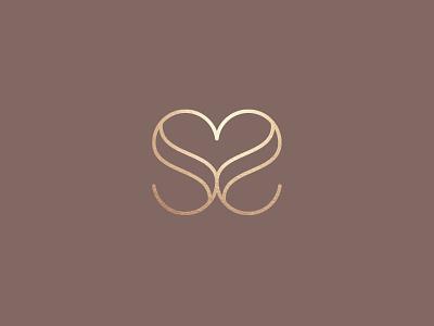 S&S Wedding Monogram heart logo married love brand and identity monogram logo wedding logo wedding design identity designer icon design design inspiration adobe illustrator vector symbol logo graphic design branding design