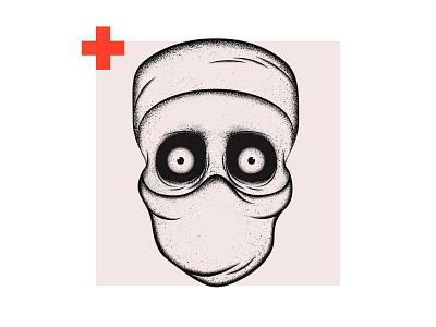 Skull Illustration graphic design spooky texture shading digitalart health check surgery surgeon illustration illustrator design skull art skull