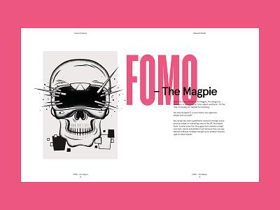 Immortal Brands Whitepaper 2 spooky shading creative whitepaper typography magazine layout layout design skull art skull illustration illustrator the magpie fomo graphic design design big type