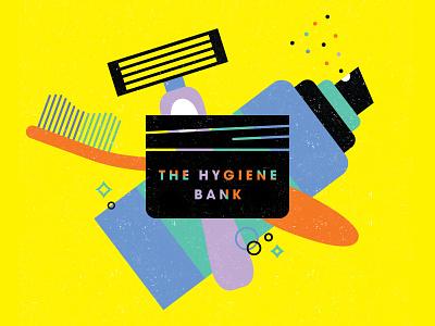 The Hygiene Bank identity design design inspiration beauty adobe illustrator adobe photoshop logo designer texture yellow hygiene illustrator vector symbol graphic design logo illustration branding design charity