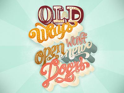 Finished lettering for Motivational Monday lettering hand-lettering type illustration