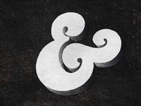 Black Ampersand