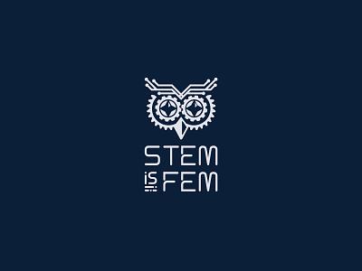 STEM is FEM брендирование брендинг бренд логотип айдентика equality female feminist feminism stem vector logos graphic design graphicdesign logo logotype logo design identity branding logodesign