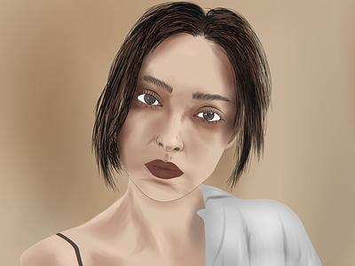 Vector Illustration blend brown skin model character illstrator vector design illustration
