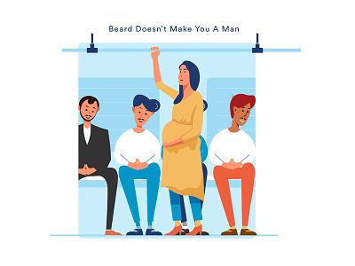 Man pregnant illustration