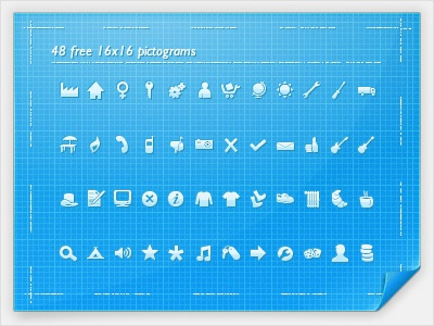 48 FREE 16x16 Pictograms icons pictograms free download blueprint vector fireworks illustrator