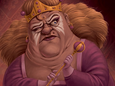Queen queen photoshop paint illustration drawing digital painting