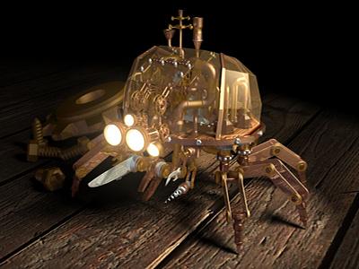 Steampunk Crab 3d model maya crab machine robot creature texture