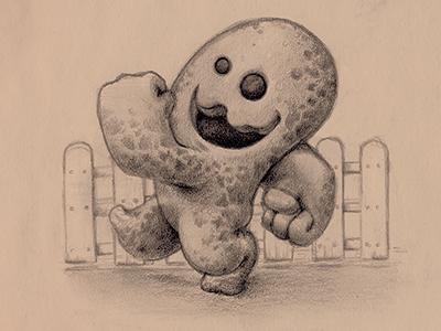 Monster monster sketch halloween character happy walk