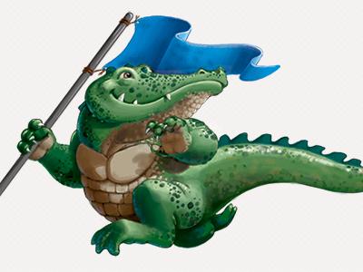 Alligator Run alligator run illustration photoshop cartoon character capture the flag flag game
