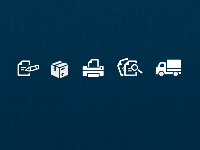 Icons icons ui print delivery photoshop simple