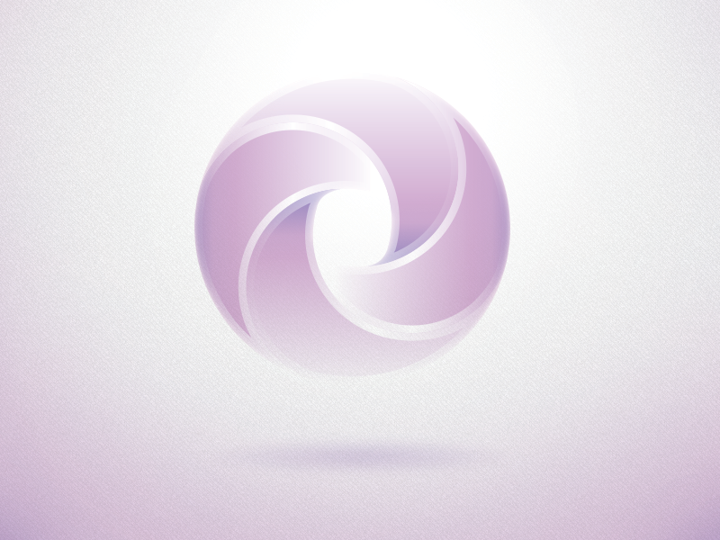 Logo/Mark logo mark spin icon glow rotate float vector circle round