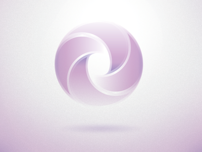 Logo/Mark logo mark spin icon glow rotate float vector circle round
