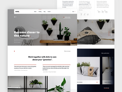Homepage design for Artic website webdesign marketing portfolio landing minimal web branding design