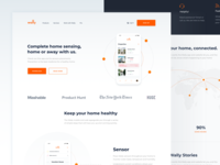Concept for Wally Landing page app