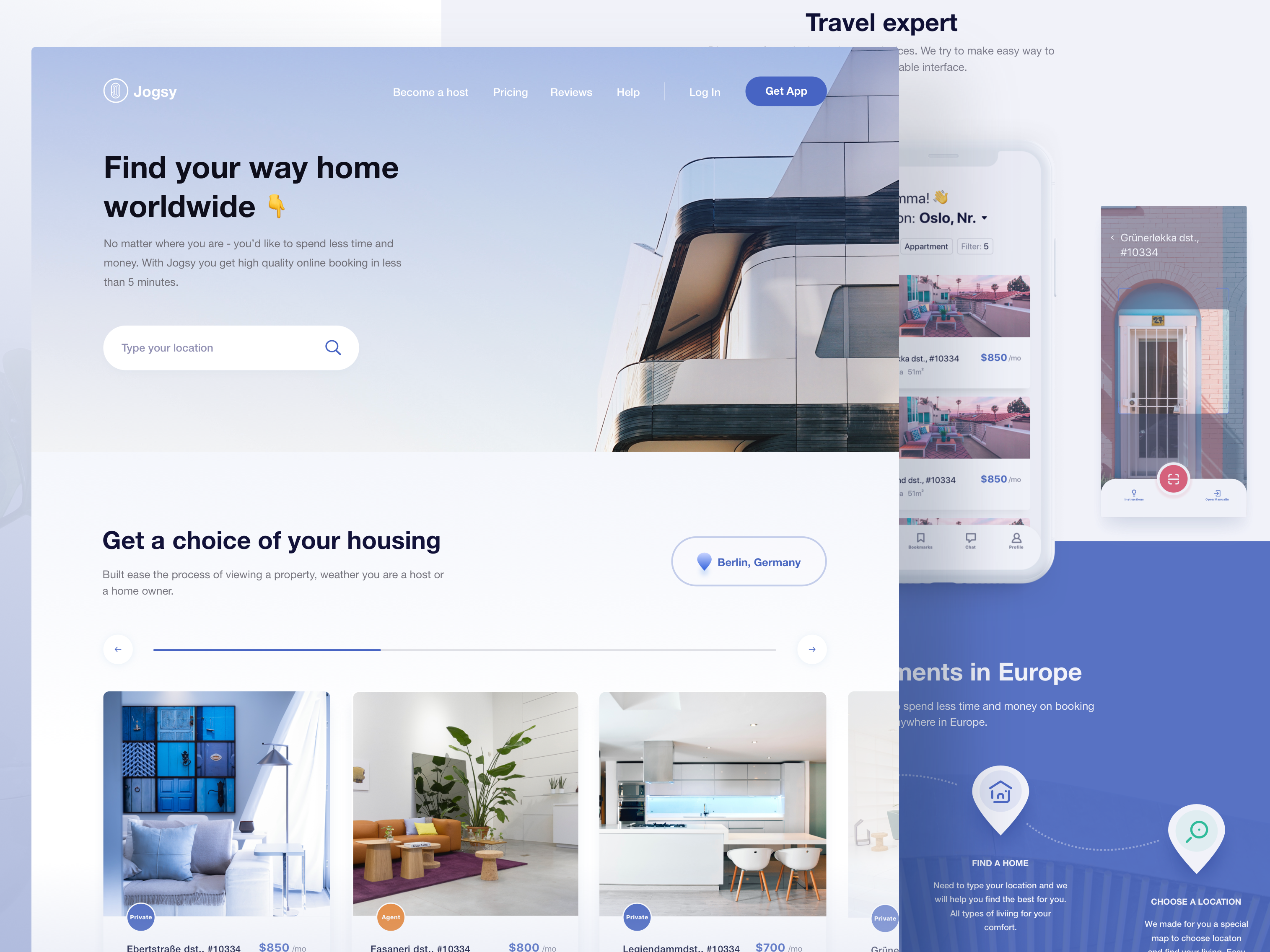 jogsy clean real estate website