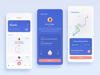 Blood donation app concept