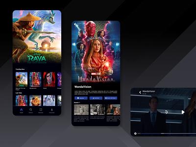 Movie Streaming Apps dark ui dark mode streaming app movie