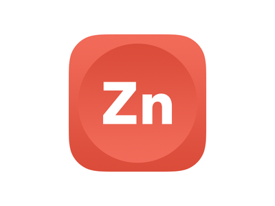 Zinc App Icon red ios ios 9 app icon