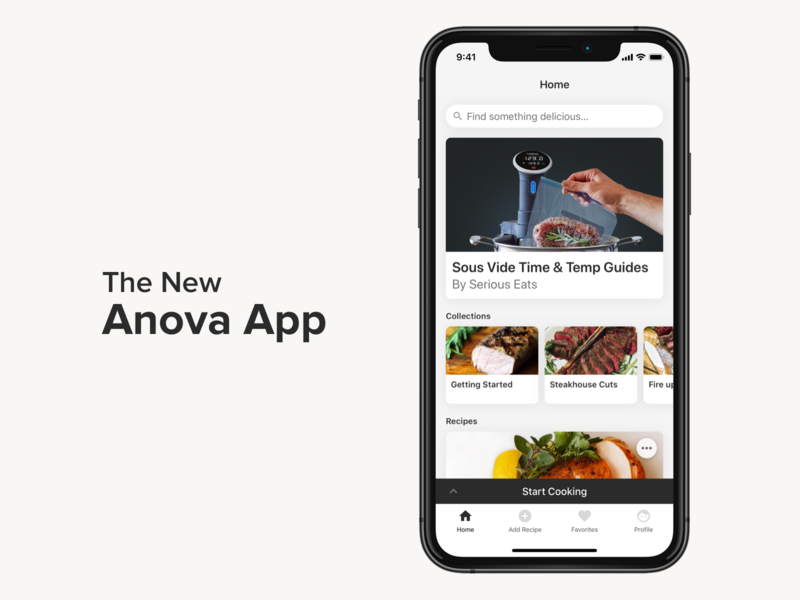 The New Anova App mobile android ios recipe sous vide