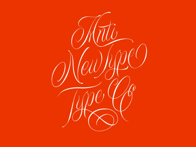 Anti Newtype Type Co procreate type design script cursive goodtype typography illustration hand lettering lettering design calligraphy
