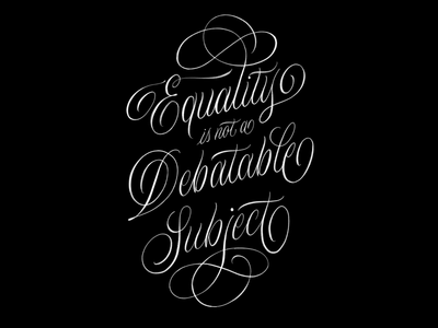 ✊🏿 Solidarity equality flourish illustration procreate handmade letters script typography goodtype hand lettering calligraphy black lives matter