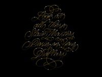JU$T gold script lyrics run the jewels ally solidarity procreate goodtype type typography lettering design illustration calligraphy