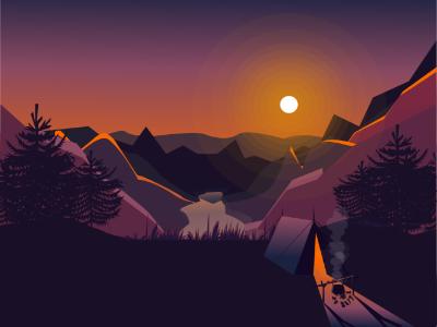 Landscape illustration adobeillustrator vectorillustration design illustration