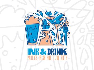 AIGA Ink & Drink Logo