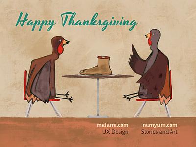 Happy Thanksgiving promo design thanksgiving illustration