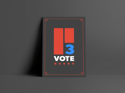 VOTE!  11/3 ux ui product design urban pin poster hand drawn concept clean election vector graphic branding logo type art layout design graphic design voting