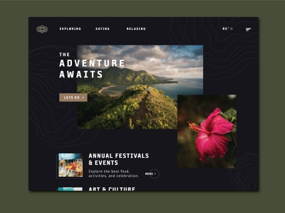 VISIT HAWAII 2d tropical type visit web page hawaii trip travel user experience user design web design web ux ui typography art graphic layout graphic design design