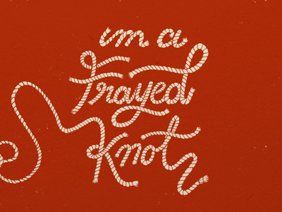 Sunday Punday No. 018 pun knots rope typography retro hand lettering type vintage illustration
