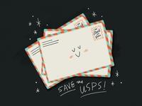 Sunday Punday No. 040 postal service usps stamp letter mail typography hand lettering pun lettering retro procreate vintage type illustration