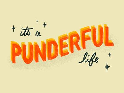 Sunday Punday No. 052 typography hand lettering pun lettering retro procreate vintage type illustration