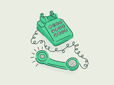 Sunday Punday is calling and I must answer call puns rotary phone retro procreate vintage illustration