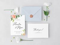 Invitation Cards & Envelope Mockup