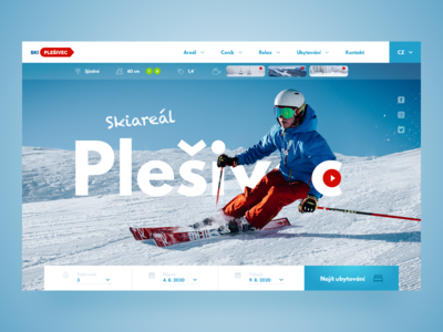 Ski resort — Web design concept