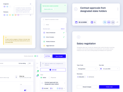 Contractbook - Tasks UI legaltech legal agreements to-do list task list task manager todo tasks signature signing product design uxui ux contract management contract agreement legal