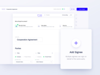 Contractbook - Document View agreements document contractbook editor task tasks lifecycle party signee sign signature product design contract management contract agreement ux ui ux redesign