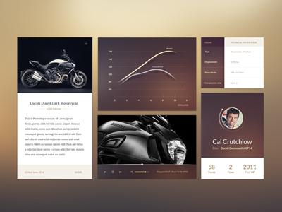 Ui Kit ui kit design flat ios motorcycle moto ducati