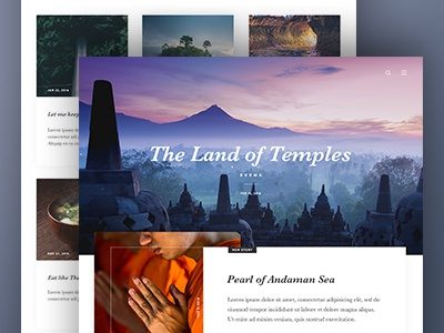 Travel Journal webdesign ux ui places world news article story travel journal blog