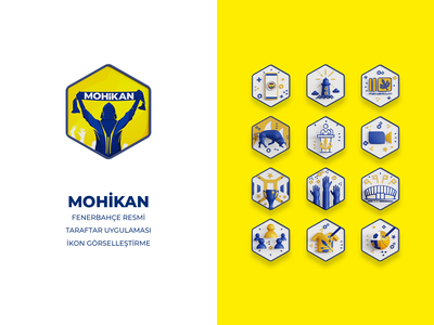Mohikan (Fenerbahçe Resmi Taraftar Uygulaması) blender 3d app icon logo ui illustration design