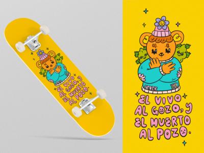 Dope Bear for 4Ever Skateboards kawaii ilustración dope skate skateboard design procreate brushes valkuks cool lovely illustration