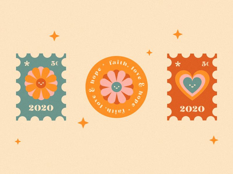 Faith, hope and love. vector illustration vector logo ai illustrator kawaii valkuks texture cool lovely ilustración illustration quarantine