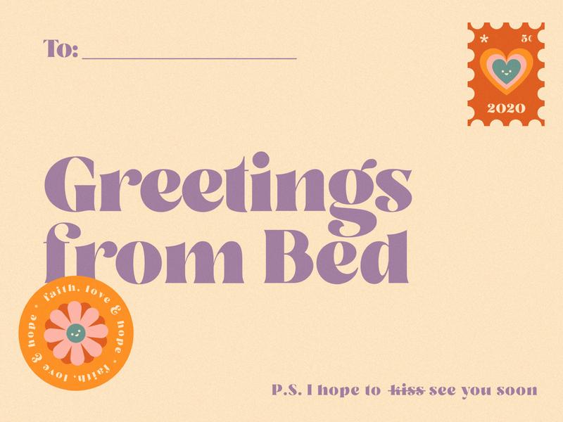 Quarantine love postcard. illustrated ai design vector logo lovely kawaii valkuks cool ilustración illustration