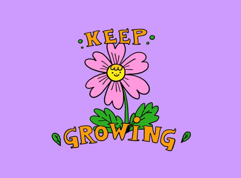 Keep Growing motivation lovely procreate brushes ilustración illustration